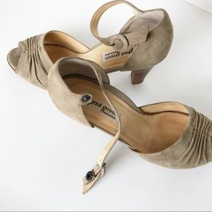 🛍 Paul Green - Taupe Ruched Strap Heeled Sandals